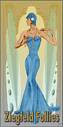 Rhythm And Blues Drawings Posters - Ziegfeld Follies Poster by Troy Brown