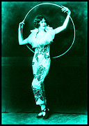 Ziegfeld Girl Prints - Ziegfeld Girl with Hoop Print by Rosie Mills