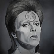 David Bowie Posters - Ziggy Stardust Poster by Brian Broadway