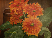 Carol L Miller - Zinnias In Bloom