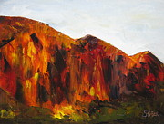 Zion National Park Painting Prints - Zion Print by Kathy Stiber