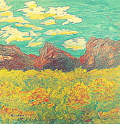 Scenic Drive Paintings - Zion National Park 11 by Richard W Linford