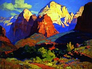 Americana Paintings - Zion Park  by Pg Reproductions