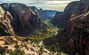 Zion Valley From The Summit Of Angels Landing Print by Pierre Leclerc Photography
