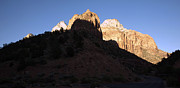 Sunset In Mountains Framed Prints - Zions Shadow Framed Print by Gilbert Artiaga
