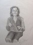 Live Art Drawings Prints - Zipporah Has Something to Say Print by Esther Newman-Cohen