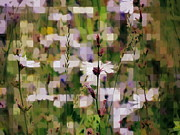 Impressionism Acrylic Prints Digital Art - Zizzling field 1 by France Laliberte