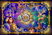 Astrological Signs Prints - Zodiac 2 Print by Ciro Marchetti