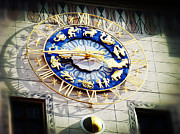 Munchen Prints - Zodiac Clock in Munich Print by Zinvolle Art