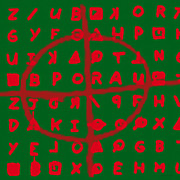 Square Sizes Metal Prints - Zodiac Killer Code and SIgn 20130213 Metal Print by Wingsdomain Art and Photography