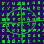 Napa Prints - Zodiac Killer Code and SIgn 20130213p128 Print by Wingsdomain Art and Photography