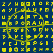 Crytogram Prints - Zodiac Killer Code and SIgn 20130213p68 Print by Wingsdomain Art and Photography