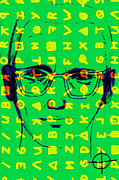 Bay Area Digital Art - Zodiac Killer With Code and SIgn 20130213 by Wingsdomain Art and Photography