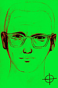 Napa Digital Art Prints - Zodiac Killer With SIgn 20130213 Print by Wingsdomain Art and Photography