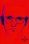 Napa Digital Art Prints - Zodiac Killer With SIgn 20130213m128 Print by Wingsdomain Art and Photography