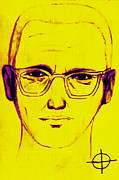 1960s Portraits Digital Art Framed Prints - Zodiac Killer With SIgn 20130213m68 Framed Print by Wingsdomain Art and Photography