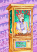 Mardi Gras Paintings - Zoltar Speaks by Rhonda Leonard