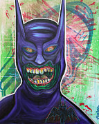 Pop Surrealism Paintings - Zombie Batman by Laura Barbosa