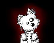 Zombie Dog Print by Kim Niles