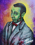 Pee Wee Herman Prints - Zombie Pee Wee Print by Michael Vanderhoof