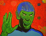 Spock Paintings - Zombie Spock by Gary Niles