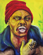 Beanie Painting Framed Prints - Zombie Tyrone Biggums Framed Print by Michael Vanderhoof