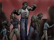 Sketchbook Prints - Zombies Print by Joseph Vallejo