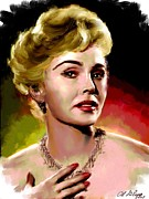 Actress Paintings - Zsa Zsa Gabor by Allen Glass