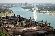 Ambassador Prints - Zug Island Industrial Area of Detroit Print by Bill Cobb