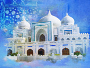 University Buildings Drawings Prints - Zulfiqar Ali Bhutto Print by Catf