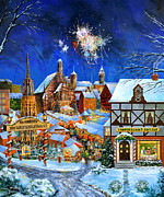 Fireworks Paintings - Zum Christkindlemarkt by Joe Rossi
