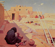 Master Potter Prints - Zuni Pottery Maker Print by William Robinson Leigh