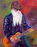 Rock And Roll Painting Originals - ZZ Top 1 by To-Tam Gerwe