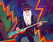 Guitars Paintings - ZZ Top 3 by To-Tam Gerwe