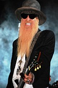 Zz Top Posters - ZZ Top Billy Gibbons Poster by Angela Murray