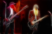 Zz Top Posters - ZZ Top-Rhythmeen-E12-Fractal Poster by Gary Gingrich Galleries