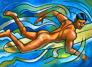 Male Originals - Paddling by Douglas Simonson