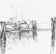 Pier Drawings -            Boat Forms  1 by     Trudy Storace