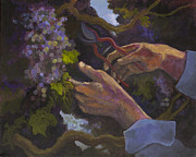 Grapevines Painting Prints -    The vine keeper Print by Sharon Wenz
