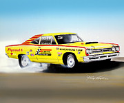 1969 Mixed Media -  1969 Plymouth Road Runner Pro Stock by Danny Whitfield