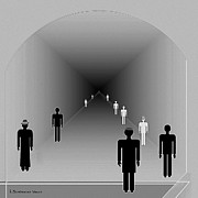 Tunnel Digital Art -   251 - Is there hope  at the end of the tunnel    by Irmgard Schoendorf Welch