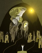 Ghost House Posters -  316 - Arrival of the gods   Poster by Irmgard Schoendorf Welch
