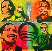 Free Speech Paintings -  4 Barack  by Tony B Conscious