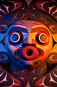 Tribal Art Art -  A Close View Of A Totem Pole by Taylor S. Kennedy