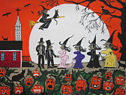Pumpkins Paintings -  A Halloween Wedding by Jeffrey Koss