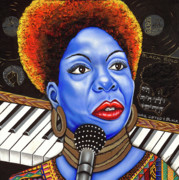 Nannette Harris Prints -  A Part of Nina Simone Print by Nannette Harris
