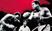 Boxing Painting Prints - - Ali vs Fraser - Print by Luis Ludzska