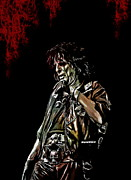 Singer Songwriter Digital Art -  Alice Cooper by Andrzej  Szczerski