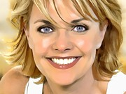 Celebrity Posters Mixed Media -  Amanda Tapping Portrait A by Andre Drauflos