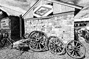 Farm Wagon Prints -  Antique Wagon Wheels Print by James Steele